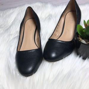 FRANCO SARTO- Black Fausta Block Heel Pump
